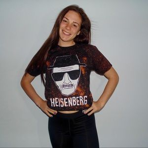 Tops - Heisenberg Acid Wash Crop Top